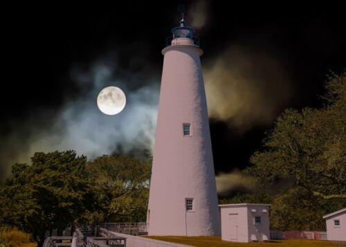Ocracoke Lighthouse Art Lighthouse Print Fine Art Lighthouse Wall Art