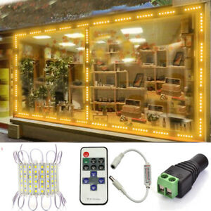 Remote-US-Warm-6-LED-Super-Bright-Waterproof-IP65-5054-Module-Light-Sign-Lamp