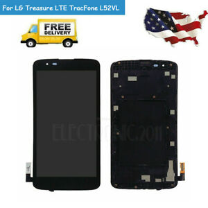 For Lg Treasure Lte Tracfone L52vl L51al Lcd Screen Touch Digitizer With Frame A Ebay