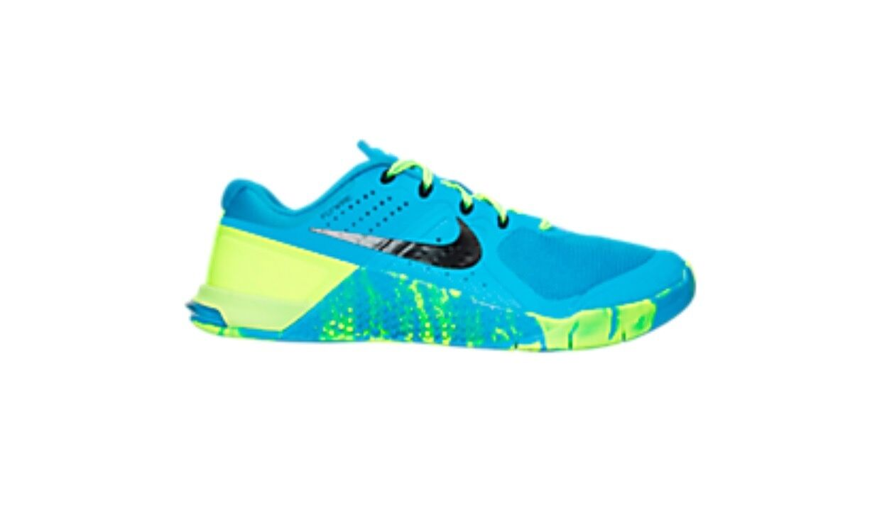 Women's Size 6.5 Nike Metcon 2 Amp Training Shoes Blue Glow/Black/Vo
