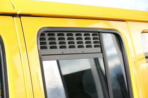 2nd Row Doors REAR WINDOW VENTS JEEP WRANGLER JL UNLIMITED 2018+ set of 2