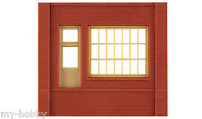 HO Scale Dock Level Walls w/Steel Sash Entry Modular Building Kit - DPM #301-72