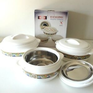 Food-Warmers-3-Piece-Set-Stainless-Steel-Insulated-Excellent-Quality