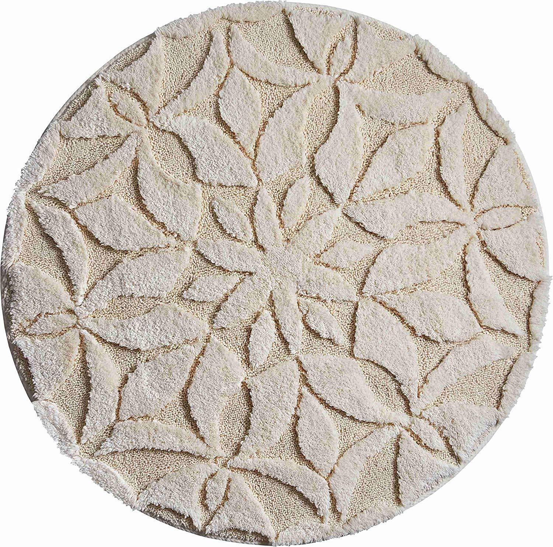 Baumwolle Badematte   Badteppich Mandalas - Secret Farbe natur   2 Grün