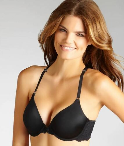 MAIDENFORM BLACK ONE FAB FIT® EXTRA COVERAGE T-BACK T-SHIRT BRA SIZE US 32DD