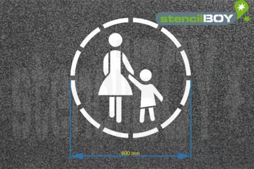 "/""Mère Avec Enfant/"" Rond bodenmarkierungs-Gabarit"
