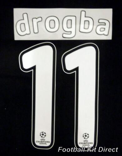 Chelsea Drogba 11 2007//08 Uefa Champions League Final Football Shirt Name Set