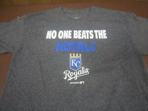 new concept 30f8d 2f3a8 Details about No One Beats The Kansas City Royals Baseball Youth Boys Large  T-Shirt M1