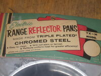 S 2 Chrome Reflector Pans Electric Stove Model Tk-n Kenmore (sears)