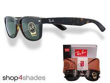 Ray Ban New Wayfarer Unisex Sunglasses DARK TORTE_CRYSTAL GREEN 2132 902 52mm