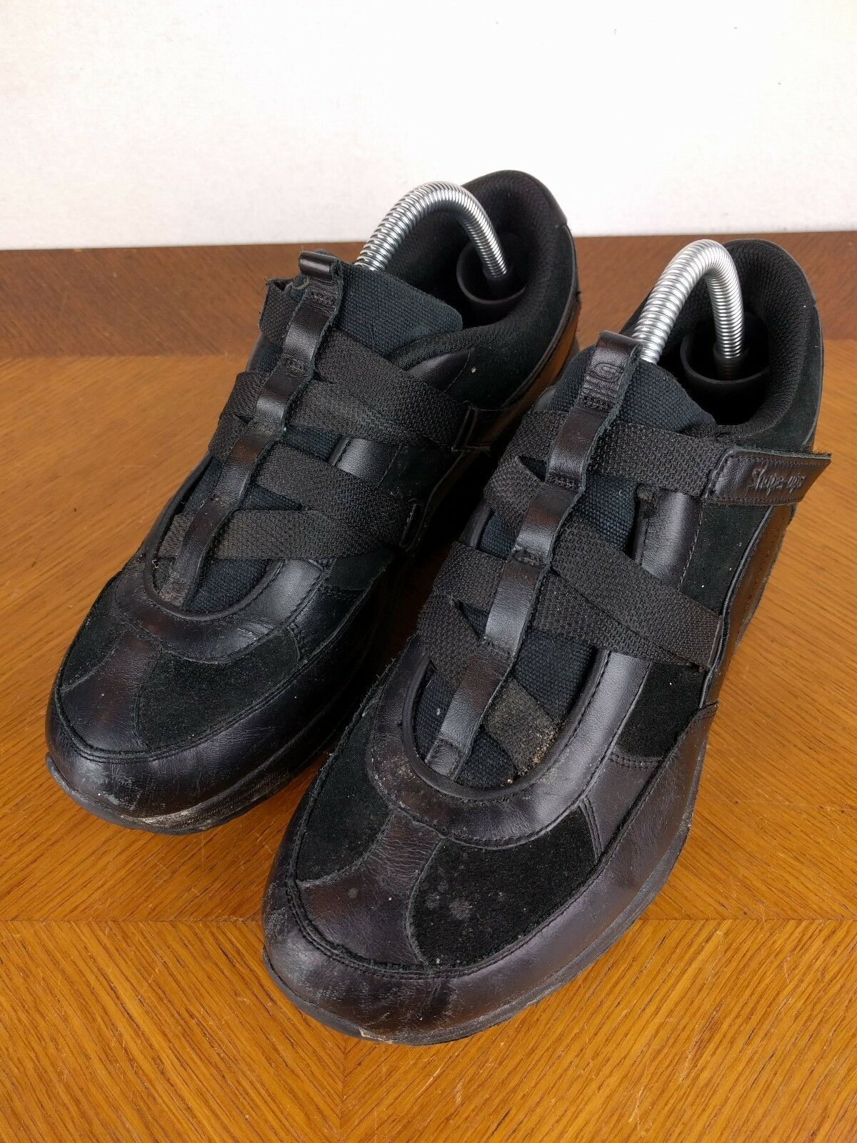 Skechers Black Shape Athletic Up Shoes Womens Size 10 Velcro Athletic Shape Sneakers Walking d721b5