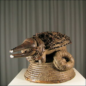 44050) Afrikanische NKISI Holz Figur Bakongo Kongo Afrika KUNST
