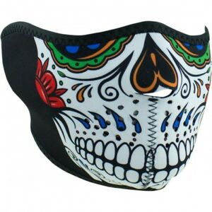 Muerte Skull Half Face Mask One Size - Zan Headgear Wnfm413h