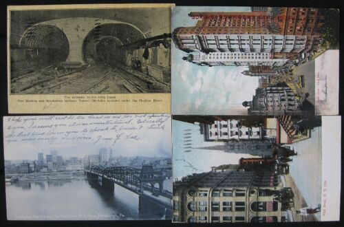 Lot o 11 190610 Undivided Back Town View Postcards NY DC Hendrick Hudson Walter
