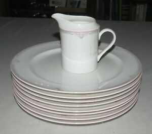 Lenox-Hatteras-7882-NINE-pieces-8-9-5-8-inch-Dinner-Plates-One-Creamer
