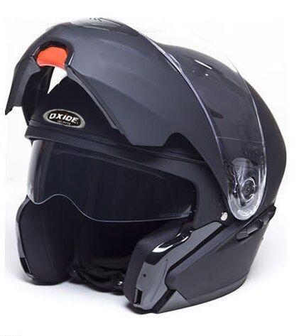 Oxide Flip Up, Dual Visor Motorbike.Motorcycle Helmet Gloss/Matt (Vader)