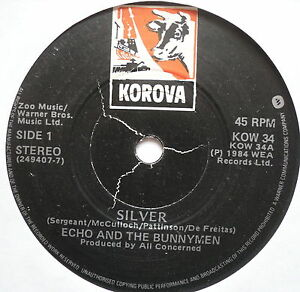 ECHO-amp-THE-BUNNYMEN-Silver-Excellent-Condition-7-034-Single-Korova-KOW-34