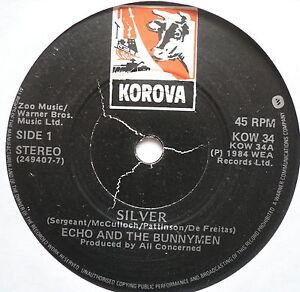 ECHO-THE-BUNNYMEN-Silver-Excellent-Condition-7-Single-Korova-KOW-34
