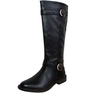 s black knee high faux leather boots size 7