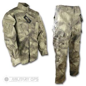 Hearty Smudge Kam Desert Muster Uniform Satz Hemd Hose Acu Style Us Militär Tarnung Beneficial To The Sperm Men's Clothing Activewear