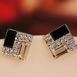 Image Is Loading Fashion Women Lady Elegant Crystal Rhinestone Ear Stud