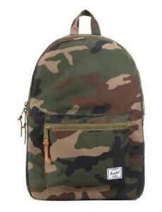 9846825dee9 Image is loading Herschel-Supply-Company-SETTLEMENT-BACKPACK-Woodland-Camo -Rubber-