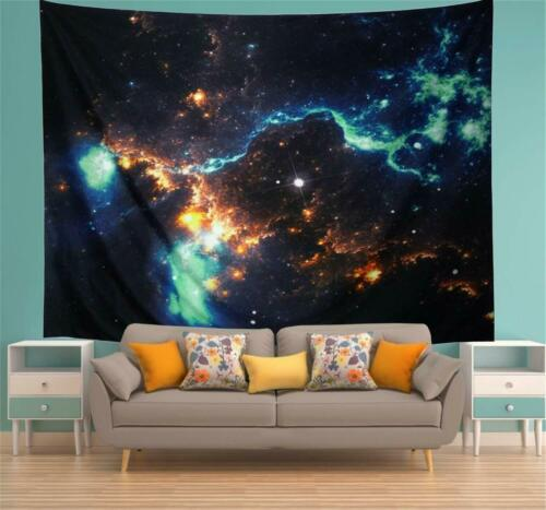 Galaxy Wall Tapestry Home Decor Dorm Room Hanging Tapestry Planet Space Mandala