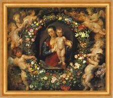 Die Madonna im Blumenkranz Rubens und Jan Brueghel d. Ä. Bütten H A3 0535