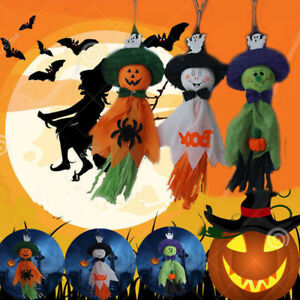 Set-of-3x-Haunted-Halloween-Pumpkin-Hanging-Skeleton-Ghost-Halloween-Party-Deco