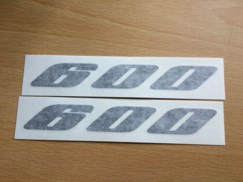 Suzuki GSXR 600 Stickers Motorbike Motorcycle Vinyl  Decals x2 @ 140 x19mm Black