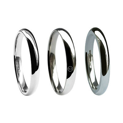 2mm 9ct White Gold Wedding Rings Court Comfort Uk Hm Med Heavy X Heavy Bands H-q