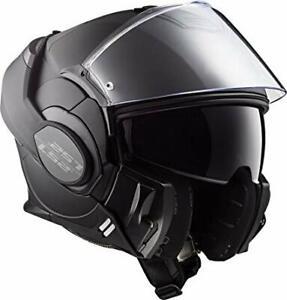 LS2-FF399-MATT-NOIR-MODULAR-FLIP-FRONT-MOTORCYCLE-HELMET-MEDIUM