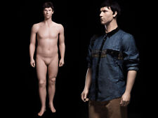 Adult Male Plus Size Fiberglass Realistic Mannequin With Molded Hair Amp Face