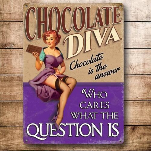 Drôle PIN-UP GIRL adore le chocolat aimant de réfrigérateur Chocolate Diva