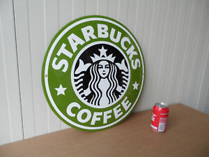 Details About Starbucks City Icon No Mug Porcelain Enamel Metal Advertising Sign O 18 Inch