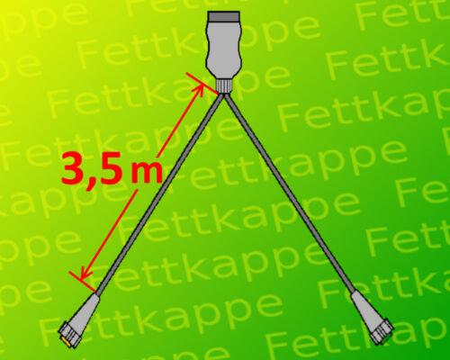 3,5 m Kabelsatz Aspöck Midipoint 1 Anhänger Rückleuchten mit 7pol Rücklichter