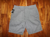 Mens Hang Ten Checkered Gray Light Weight Quick Dry Perspective Shorts 32