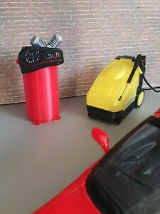3d printed 1/18 WORKSHOP AIR COMPRESSOR and JET WASHER  for garage diorama