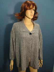plus-size-3X-gray-knit-pull-over-SWEATER-coat-by-CJ-BANKS