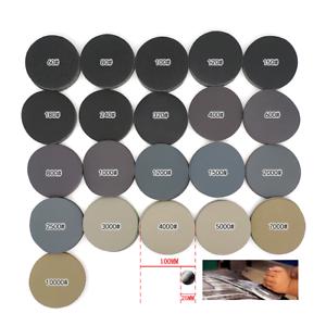 75mm Exzenter Schleifscheiben Klett Schleifblätter 60-3000 Rund Schleifpapier