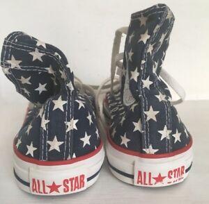 Détails sur Converse Chuck Taylor All Star rouge bleu et blanc, très bon état, UK 5 EUR 37.5- afficher le titre d'origine