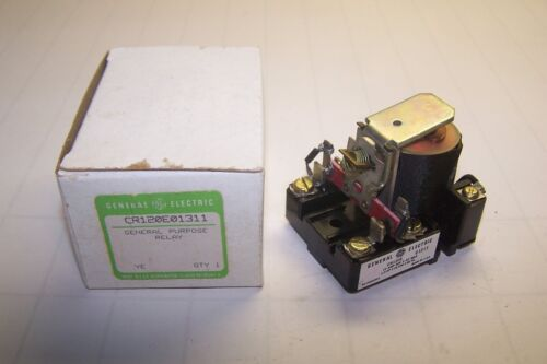 NEW GE GENERAL ELECTRIC 10 AMP 600 VAC 1//2 HP RELAY 24 VDC COIL CR120E01311