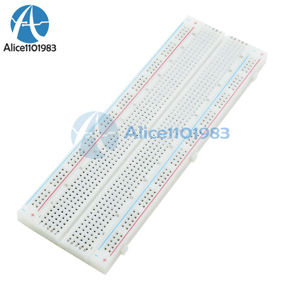 MB-102 MB102 Solderless Breadboard 830 Points PCB BreadBoard 165×55×10MM