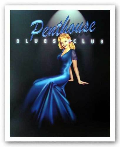 RESTAURANT ART PRINT Penthouse Blues Club Ralph Burch