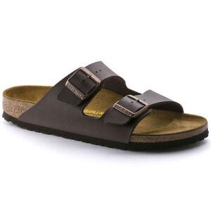 New-Birkenstock-Arizona-Classic-Sandals-Dark-Brown-Made-in-Germany