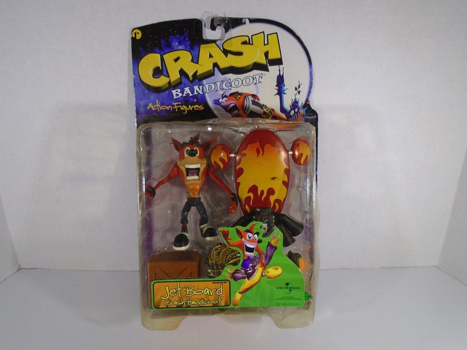 1998 RESAURUS--CRASH BANDICOOT--JET BOARD CRASH BANDICOOT FIGURE (NEW)