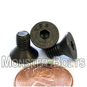 """Qty 25 3//8-16 x 3/""""  Flat Head Cap Screw Black Oxide Thread Socket"""