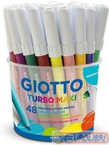 Giotto Turbo Maxi 521400 Confezione da 48 5mm Punta Larga Pennarelli
