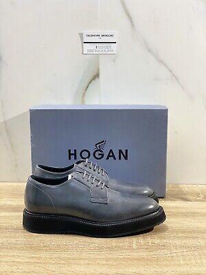 Hogan Scarpa Uomo H271 Route Derby In Pelle Carbone Casual Hogan Men 39   eBay