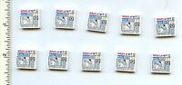 Lego X 10 White Tile 2 X 2 With Prize Ribbon, Dog And What's At Heart? Newspaper